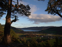 Village of Drumnadrochit from Craigmonie